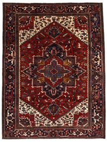 Heriz Alfombra 212X278 Oriental Hecha A Mano Rojo Oscuro/Marrón Oscuro (Lana, Persia/Irán)