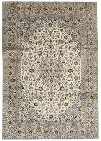 Keshan Alfombra 246X352 Oriental Hecha A Mano Gris Claro/Gris Oscuro (Lana, Persia/Irán)