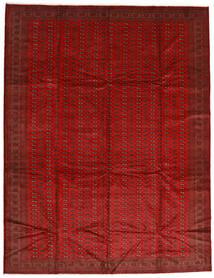 Turkaman Alfombra 302X388 Oriental Hecha A Mano Óxido/Roja/Rojo Oscuro Grande (Lana, Persia/Irán)