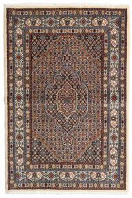 Moud Alfombra 98X147 Oriental Hecha A Mano Marrón Oscuro/Rojo Oscuro (Lana/Seda, Persia/Irán)