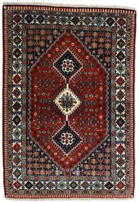 Yalameh Alfombra 109X155 Oriental Hecha A Mano Rojo Oscuro/Gris Oscuro (Lana, Persia/Irán)