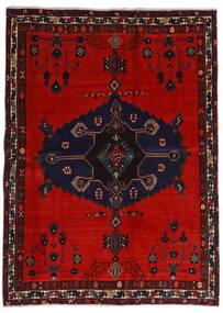 Afshar Alfombra 164X225 Oriental Hecha A Mano Negro/Óxido/Roja/Rojo Oscuro (Lana, Persia/Irán)