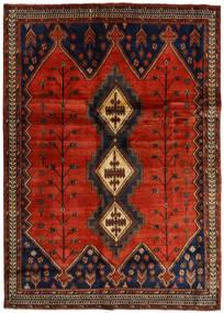 Afshar Alfombra 176X248 Oriental Hecha A Mano Marrón Oscuro/Óxido/Roja (Lana, Persia/Irán)