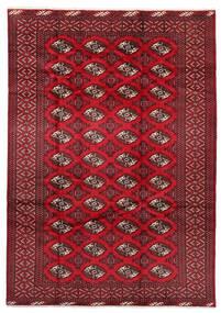 Turkaman Alfombra 199X282 Oriental Hecha A Mano Rojo Oscuro/Roja (Lana, Persia/Irán)