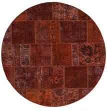 Patchwork - Persien/Iran Alfombra Ø 200 Moderna Hecha A Mano Redonda Marrón Oscuro/Rojo Oscuro (Lana, Persia/Irán)