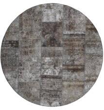 Patchwork - Persien/Iran Alfombra Ø 200 Moderna Hecha A Mano Redonda Gris Oscuro/Gris Claro (Lana, Persia/Irán)