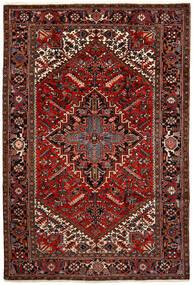 Heriz Alfombra 200X292 Oriental Hecha A Mano Marrón Oscuro/Rojo Oscuro (Lana, Persia/Irán)