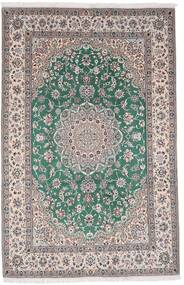 Nain 9La Alfombra 198X304 Oriental Hecha A Mano Gris Claro/Gris Oscuro (Lana/Seda, Persia/Irán)