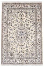Nain 9La Alfombra 203X303 Oriental Hecha A Mano Gris Claro/Beige (Lana/Seda, Persia/Irán)