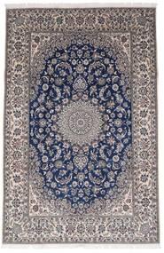 Nain 9La Alfombra 196X301 Oriental Hecha A Mano Gris Oscuro/Marrón Oscuro (Lana/Seda, Persia/Irán)
