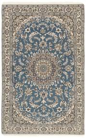 Nain 9La Alfombra 116X180 Oriental Hecha A Mano Gris Claro/Gris Oscuro (Lana/Seda, Persia/Irán)