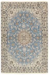 Nain 9La Alfombra 118X177 Oriental Hecha A Mano Gris Claro/Beige (Lana/Seda, Persia/Irán)