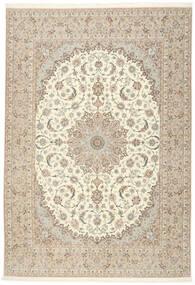 Isfahan Urdimbre De Seda Alfombra 255X366 Oriental Hecha A Mano Gris Claro/Beige Grande (Lana/Seda, Persia/Irán)