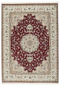 Tabriz 50 Raj Con Seda Alfombra 248X347 Oriental Hecha A Mano Gris Claro/Rojo Oscuro (Lana/Seda, Persia/Irán)