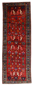 Hamadan Alfombra 108X304 Oriental Hecha A Mano Rojo Oscuro/Óxido/Roja/Negro (Lana, Persia/Irán)