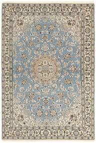 Nain 9La Alfombra 115X175 Oriental Hecha A Mano Gris Claro/Beige (Lana/Seda, Persia/Irán)