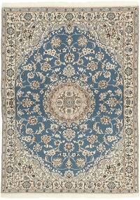 Nain 9La Alfombra 118X171 Oriental Hecha A Mano Gris Claro/Beige (Lana/Seda, Persia/Irán)
