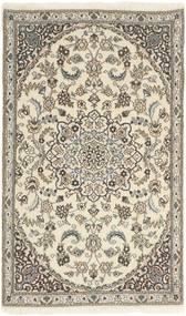 Nain 9La Alfombra 86X145 Oriental Hecha A Mano Gris Claro/Beige (Lana/Seda, Persia/Irán)