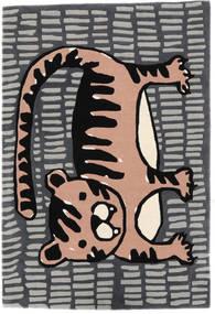 Cool Cat - Gris/Rosa Alfombra 120X180 Moderna Gris Oscuro/Gris Claro (Lana, India)