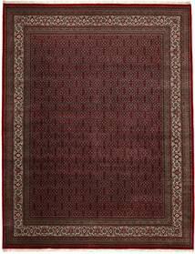 Bidjar Indo Alfombra 306X391 Oriental Hecha A Mano Negro/Rojo Oscuro Grande (Lana, India)