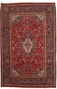 Keshan Alfombra 198X302 Oriental Hecha A Mano Rojo Oscuro (Lana, Persia/Irán)
