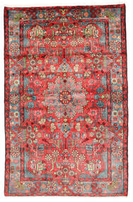 Nahavand Old Alfombra 154X241 Oriental Hecha A Mano Rojo Oscuro/Óxido/Roja (Lana, Persia/Irán)