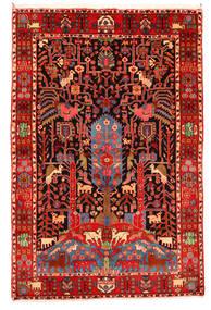 Nahavand Old Alfombra 165X247 Oriental Hecha A Mano Rojo Oscuro/Beige (Lana, Persia/Irán)