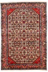 Hamadan Alfombra 131X194 Oriental Hecha A Mano Marrón Oscuro/Beige (Lana, Persia/Irán)