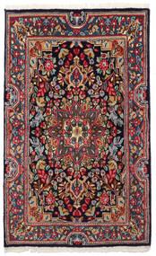 Kerman Alfombra 90X149 Oriental Hecha A Mano Gris Oscuro/Azul Oscuro (Lana, Persia/Irán)