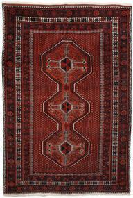 Afshar Alfombra 150X225 Oriental Hecha A Mano Rojo Oscuro/Marrón Oscuro (Lana, Persia/Irán)