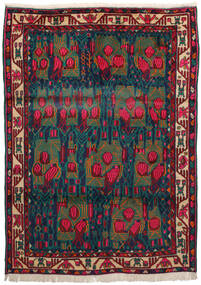 Afshar Alfombra 163X228 Oriental Hecha A Mano Rojo Oscuro/Azul Oscuro/Turquesa Oscuro (Lana, Persia/Irán)