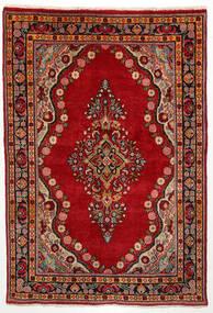 Mahal Alfombra 135X200 Oriental Hecha A Mano Óxido/Roja/Marrón Oscuro (Lana, Persia/Irán)