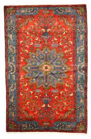 Nahavand Old Alfombra 158X246 Oriental Hecha A Mano Rojo Oscuro/Gris Claro (Lana, Persia/Irán)