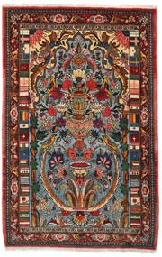 Bakhtiar Collectible Alfombra 103X158 Oriental Hecha A Mano Marrón Oscuro/Turquesa Oscuro (Lana, Persia/Irán)