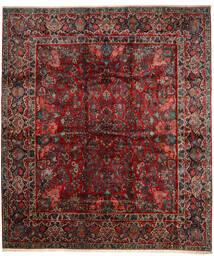 Sarough Alfombra 420X485 Oriental Hecha A Mano Rojo Oscuro/Marrón Oscuro Grande (Lana, Persia/Irán)