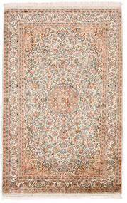 Cachemira Pura De Seda Alfombra 98X152 Oriental Hecha A Mano Beige/Marrón Oscuro (Seda, India)