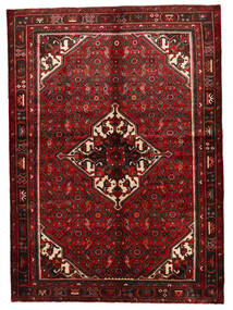 Hosseinabad Alfombra 154X219 Oriental Hecha A Mano Rojo Oscuro (Lana, Persia/Irán)