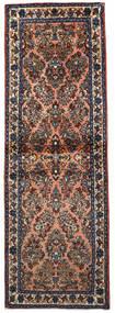 Sarough Alfombra 74X220 Oriental Hecha A Mano Azul Oscuro/Marrón Claro (Lana, Persia/Irán)