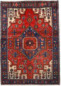Nahavand Alfombra 133X193 Oriental Hecha A Mano Negro/Rojo Oscuro (Lana, Persia/Irán)