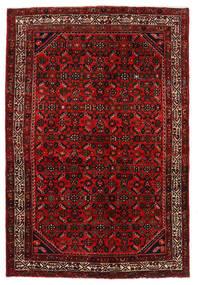 Hosseinabad Alfombra 136X203 Oriental Hecha A Mano Rojo Oscuro/Óxido/Roja (Lana, Persia/Irán)
