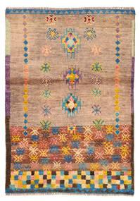 Moroccan Berber - Afghanistan Alfombra 88X127 Moderna Hecha A Mano Marrón Claro/Rosa Claro (Lana, Afganistán)