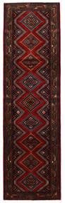 Hamadan Alfombra 85X292 Oriental Hecha A Mano Marrón Oscuro/Rojo Oscuro (Lana, Persia/Irán)
