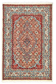 Lillian Alfombra 60X92 Oriental Hecha A Mano Beige/Marrón Oscuro (Lana, Persia/Irán)