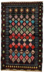 Moroccan Berber - Afghanistan Alfombra 88X144 Moderna Hecha A Mano Marrón Oscuro/Verde Oscuro (Lana, Afganistán)