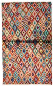Moroccan Berber - Afghanistan Alfombra 85X142 Moderna Hecha A Mano Marrón Oscuro/Óxido/Roja (Lana, Afganistán)