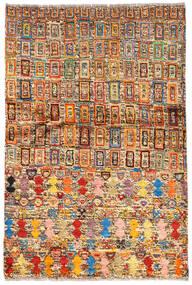 Moroccan Berber - Afghanistan Alfombra 94X139 Moderna Hecha A Mano Marrón Oscuro/Rojo Oscuro (Lana, Afganistán)