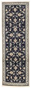 Nain Alfombra 76X234 Oriental Hecha A Mano Gris Oscuro/Gris Claro (Lana, Persia/Irán)