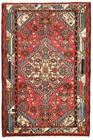Hamadan Alfombra 82X125 Oriental Hecha A Mano Negro/Marrón Oscuro (Lana, Persia/Irán)