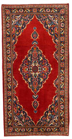 Keshan Alfombra 69X138 Oriental Hecha A Mano Óxido/Roja/Azul Oscuro (Lana, Persia/Irán)