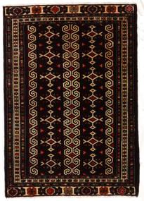 Turkaman Alfombra 81X116 Oriental Hecha A Mano Negro/Marrón Oscuro (Lana, Persia/Irán)